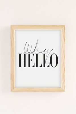 Letters On Love Why Hello Art Print - 18X24 - Framed - Urban Outfitters