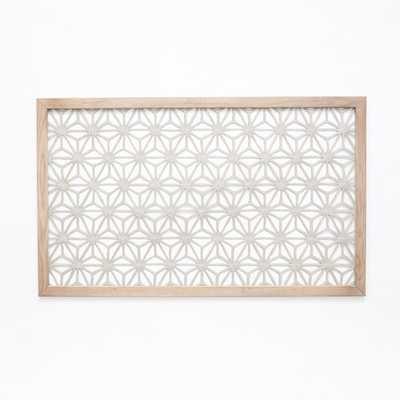 Framed Handmade Paper Wall Art - Gray Star - West Elm