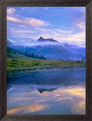 """Ruby Range reflected in the Slate River, Colorado - 34"""" x 44"""" - Framed Canvas - Photos.com by Getty Images"""