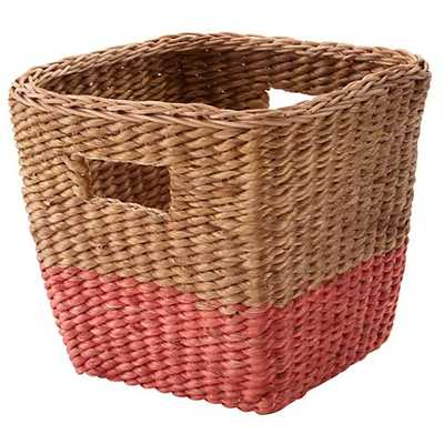 Half tone cube basket (Red) - Land of Nod