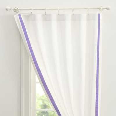 "Suite Ribbon Blackout Drape - 108"" (Purple) - Pottery Barn Teen"