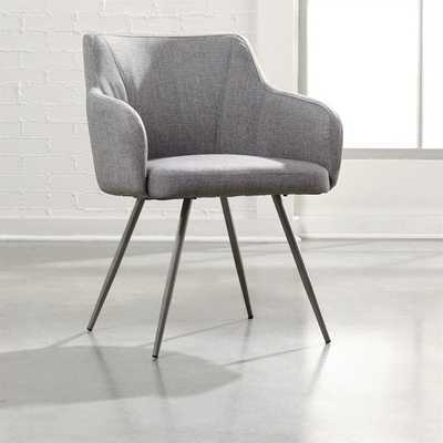 Soft Fabric Arm Chair in Gray - cymax.com
