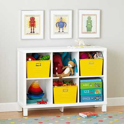 Cubic Bookcase (White, 6-Cube) - Land of Nod