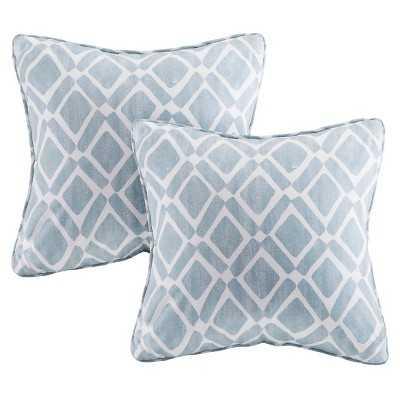 Natalie Printed Square Pillow - 2 Pack - Target