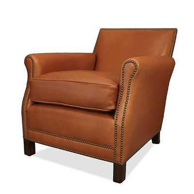 Salzburg Leather Arm Chair - Wayfair
