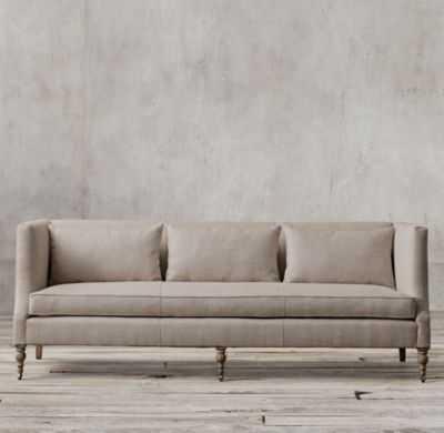 GEORGE SHELTER ARM SOFA - Belgian Linen, Sand - RH
