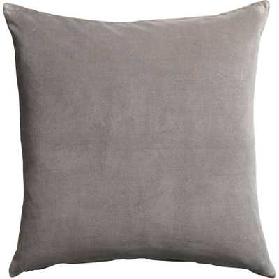 "Leisure grey 23"" pillow with down-alternative insert - CB2"