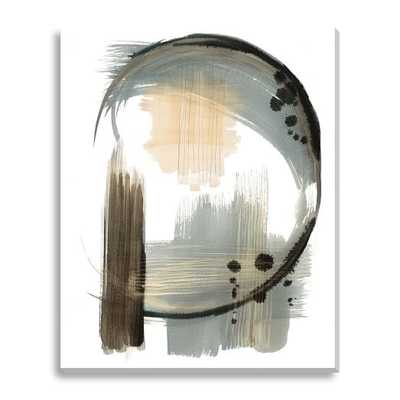 "Canvas Print - Abstract Crescent-48""x60""-Unframed - West Elm"