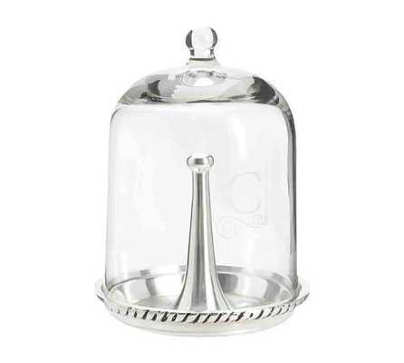 Glass Cloche Jewelry Storage - Ring cloche, Silver - Pottery Barn