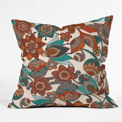"""LUCY FLOWERS Throw Pillow-20""""sq.-with insert - Wander Print Co."""