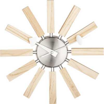 Wood Spokes Wall Clock - Natural - AllModern