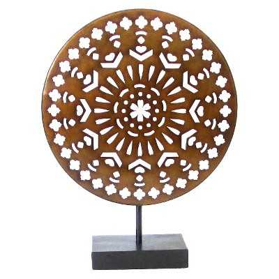 Decorative Medallion Figurine Metal - Target