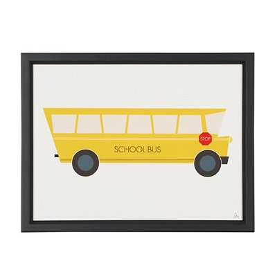 Time to Ride Wall Art (School Bus)/Framed - Land of Nod