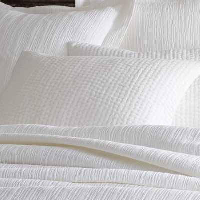 SEYCHELLES DOVE WHITE QUILTED SHAM- Standard Sham - Pine Cone Hill