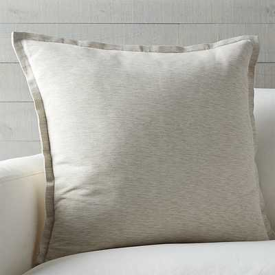 Linden Pillow - Natural - 23x23 - With Insert - Crate and Barrel