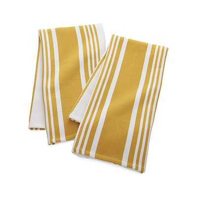 Cuisine Stripe Dish Towels, Set of 2 - Crate and Barrel
