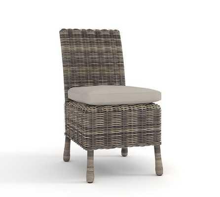 Dining Chair Cushion Slipcover - Gray - Pottery Barn