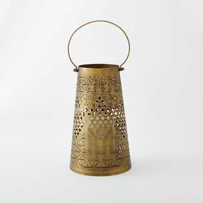 Punched Metal Lanterns-Medium - West Elm
