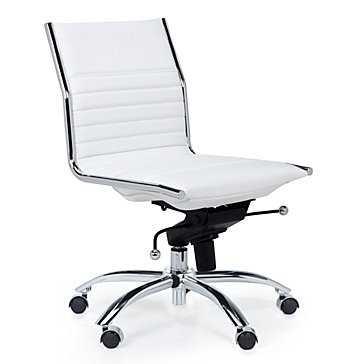 Malcolm Armless Chair - White - Z Gallerie