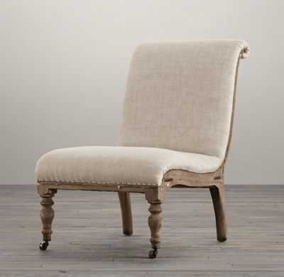 DECONSTRUCTED FRENCH SLIPPER CHAIR - RH