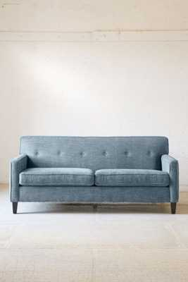 Ethan Marled Chenille Sofa - Teal - Urban Outfitters