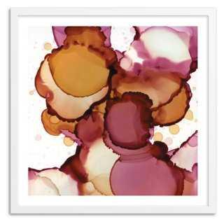 """Andrea Pramuk, Golden Petals I - 22"""" x 22"""" - Framed - One Kings Lane"""
