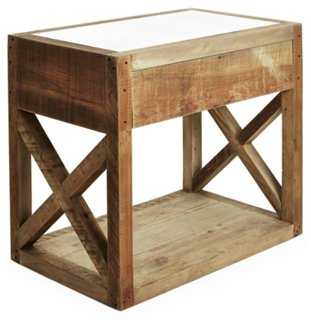 Manning Mirror-Top Side Table - One Kings Lane