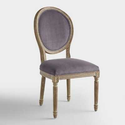 Plum Velvet Paige Round-Back Dining Chairs, Set of 2 - World Market/Cost Plus
