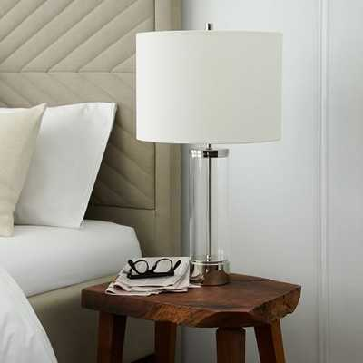 Acrylic Column Table Lamp - Polished Nickel - West Elm