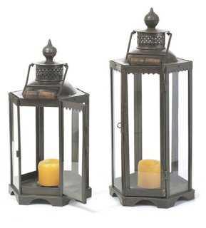 Black Iron Candle Lantern - One Kings Lane