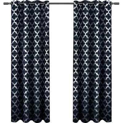 "Neptune Curtain Panel - Indigo - Set of 2 - 54""W x 96""L - Wayfair"