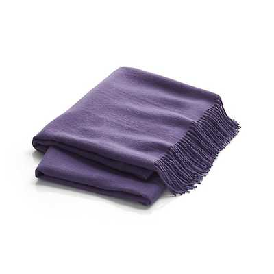 Lima Alpaca Wisteria Purple Throw Blanket - Crate and Barrel