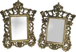 Ornate Brass Frames, Pr - One Kings Lane