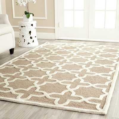 Safavieh Moroccan Cambridge Beige Wool Rug - Overstock