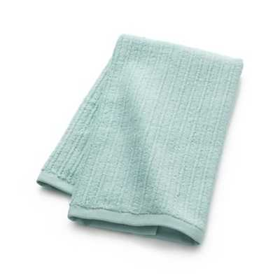 Ribbed Seafoam Hand Towel - Crate and Barrel