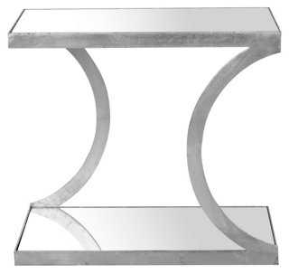 Claiborne Side Table, Silver - One Kings Lane