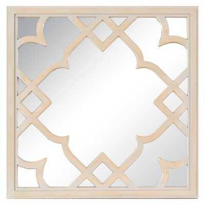 "Wood Trellis Mirror - Brown 16"" - Target"