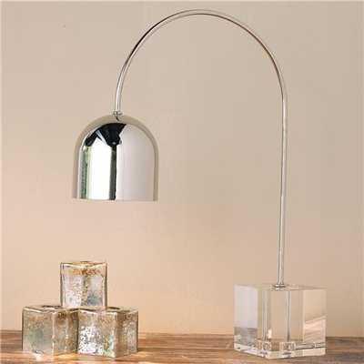 Crystal Base Arc Desk Lamp - shadesoflight.com
