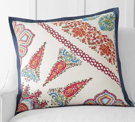 "AURORA PILLOW COVER - 24"" square. -  insert sold separatel - Pottery Barn"