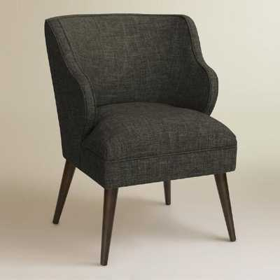 Audin Upholstered Chair - Charcoal - World Market/Cost Plus