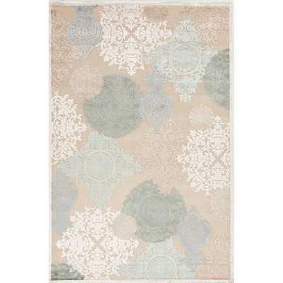 Fables Cream & Blue Floral Area Rug - Wayfair