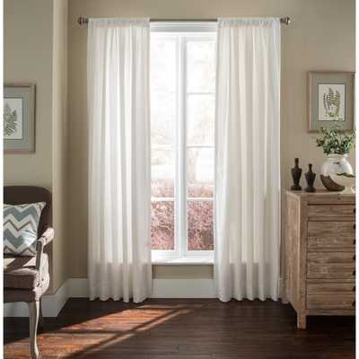 "Luxury Linen White Lined Curtain Panel - 96"" - Overstock"