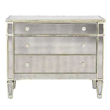 Borghese Mirrored 3 Drawer Chest - Z Gallerie