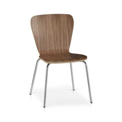 Felix Walnut Dining Chair - Crate and Barrel