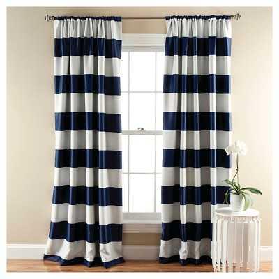 Stripe Curtain Panels - Room Darkening - Target