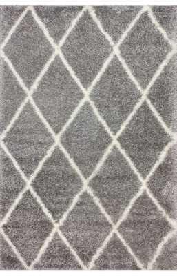 Moroccan Diamond Shag Rug & rug pad - Rugs USA