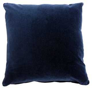 Pompeii 20x20 Cotton Pillow, Navy - feather-and-down insert - One Kings Lane