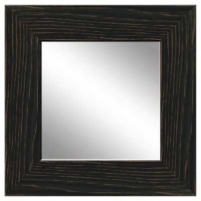 PTM Natural Recovered Wood Mirror - Black - Target