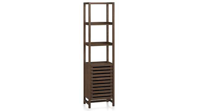 Banya Smoked Oak Tower - Crate and Barrel