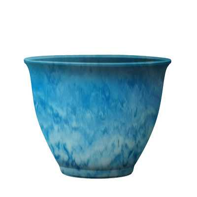 Round Pot Planter - Sky Blue - Wayfair